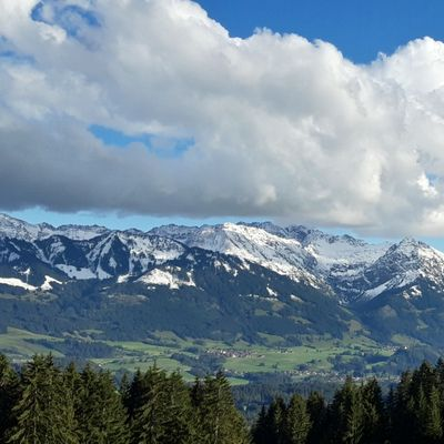 Mid October sees the the 1st snow on the Allgaeuer Alps