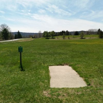 1st green tee south of main parking lot