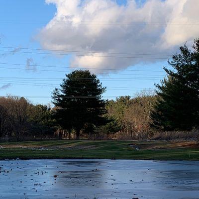 Hole 9 over iced water hazard